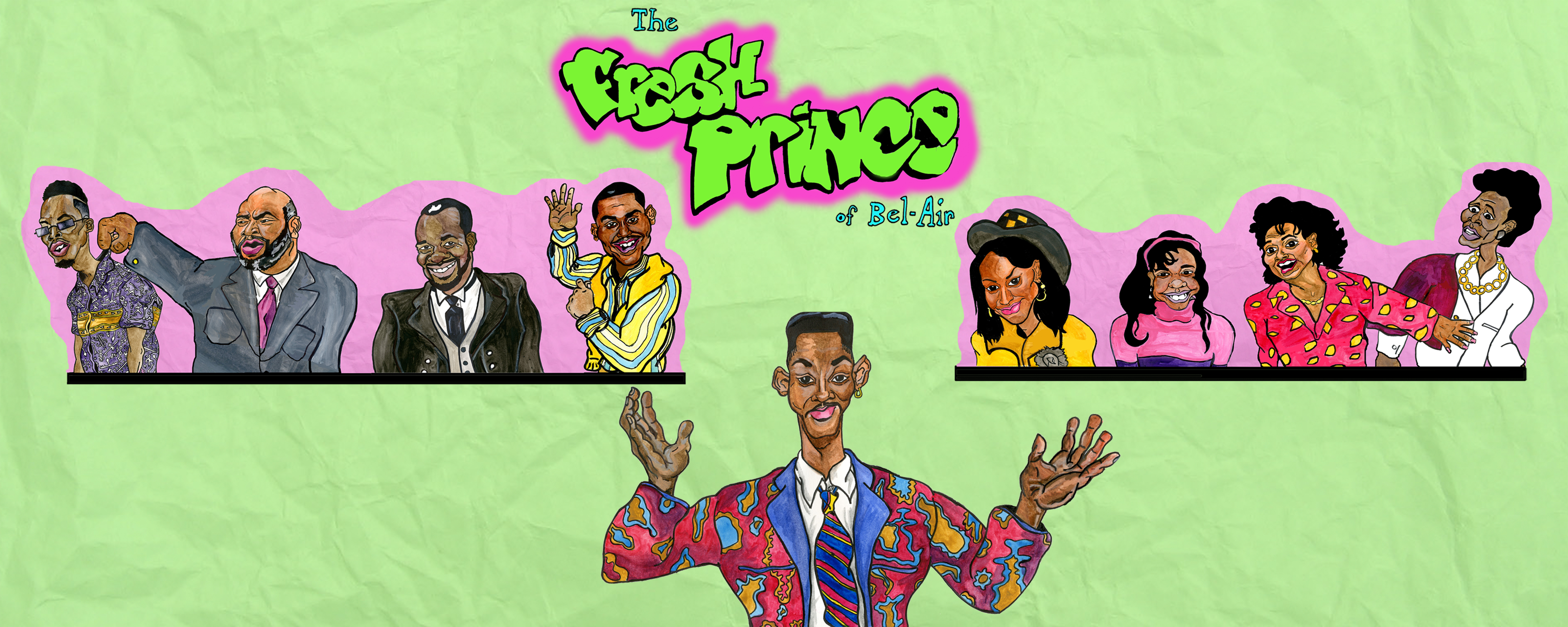 """fresh prince of bel air Welcome to freshprinceofbelaircom – an unofficial fresh prince fan site here you'll find the theme song (including the opening theme video, mp3 download, ringtone download and lyrics), episode guide, cast, memorable quotes, info on the real-life fresh prince house, video clips of bloopers and behind the scenes, trivia games, the infamous """"carlton dance"""", will smith's pickup lines ."""