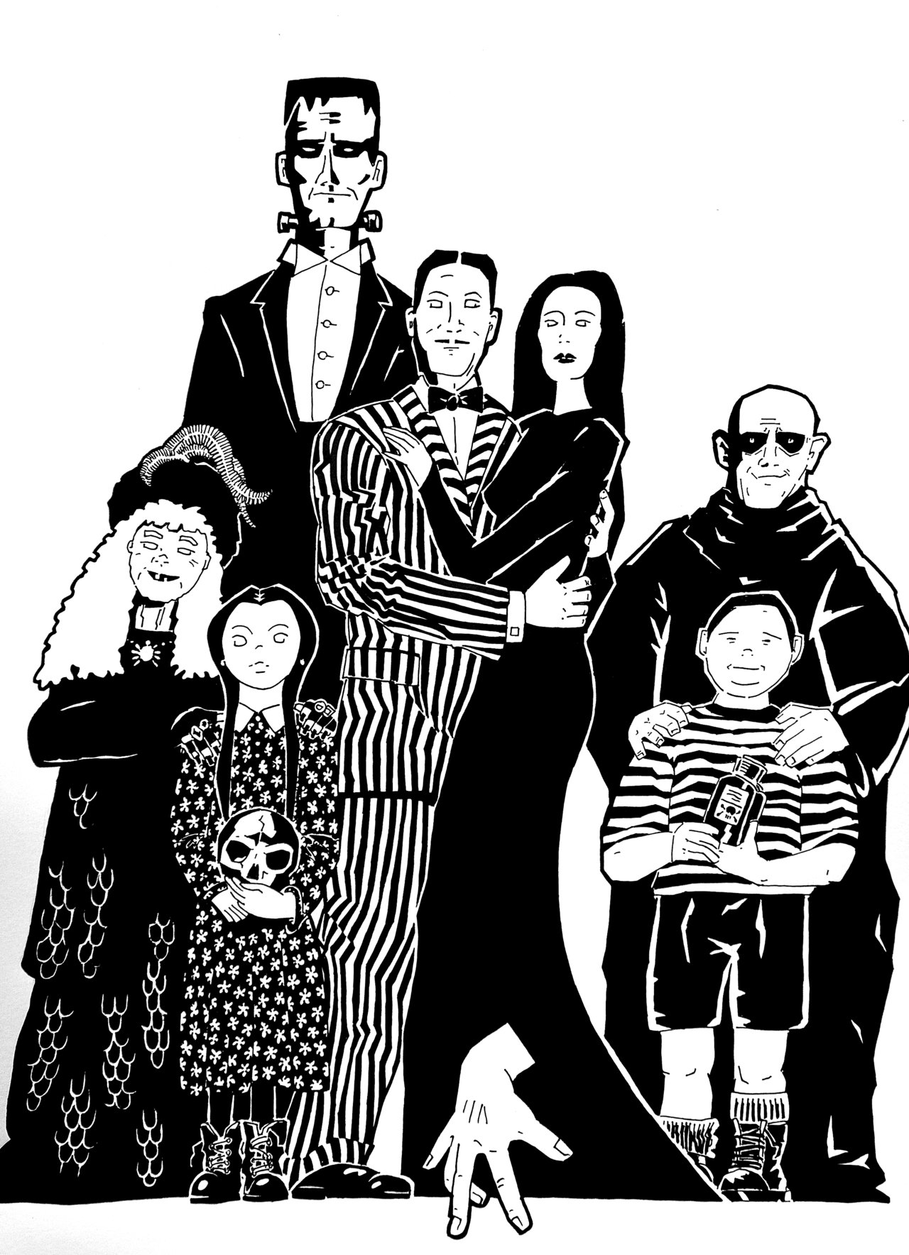 Free The Addams Family Coloring Pages