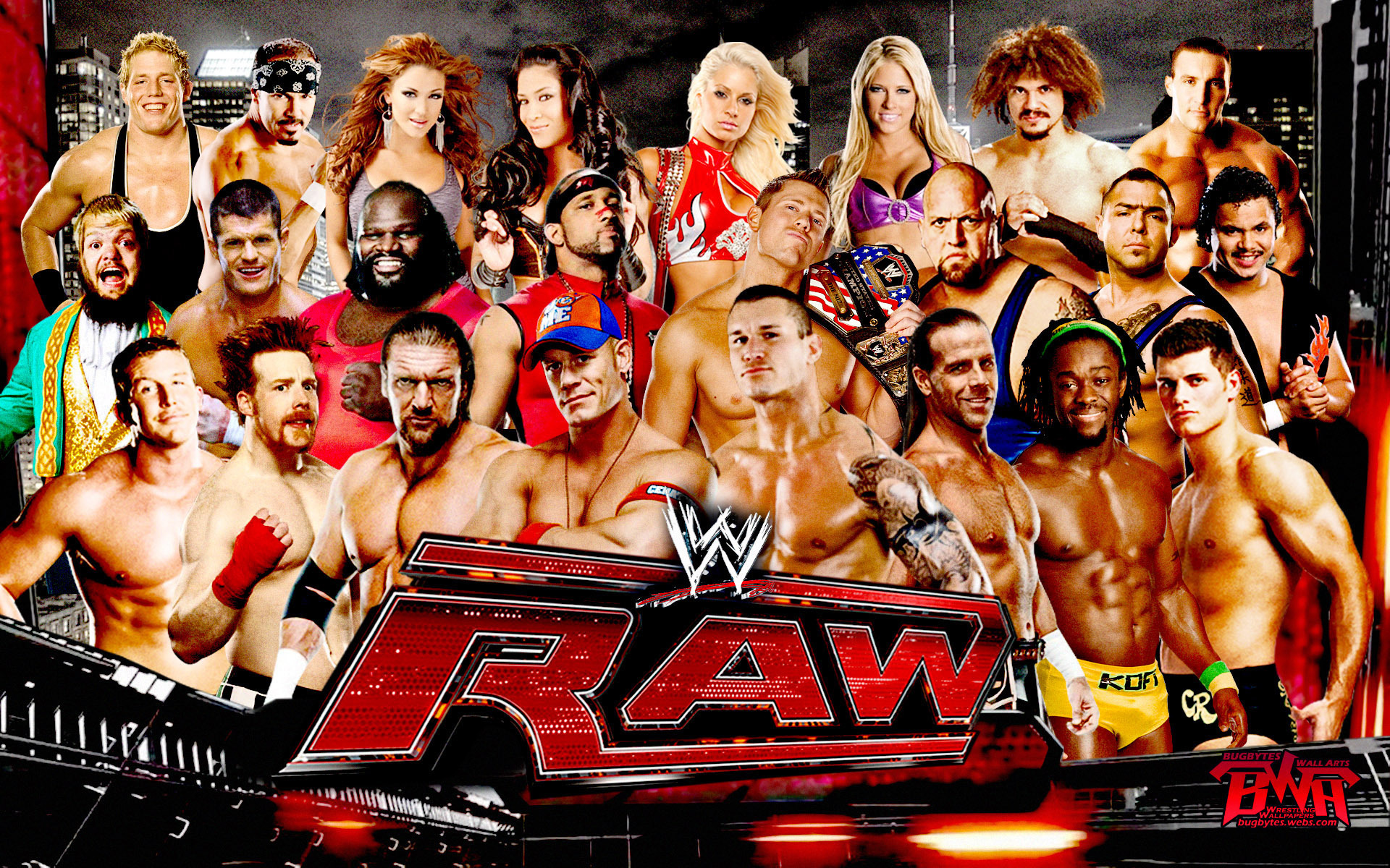 Wwe raw theme song movie theme songs tv soundtracks - Wwe divas wallpapers ...