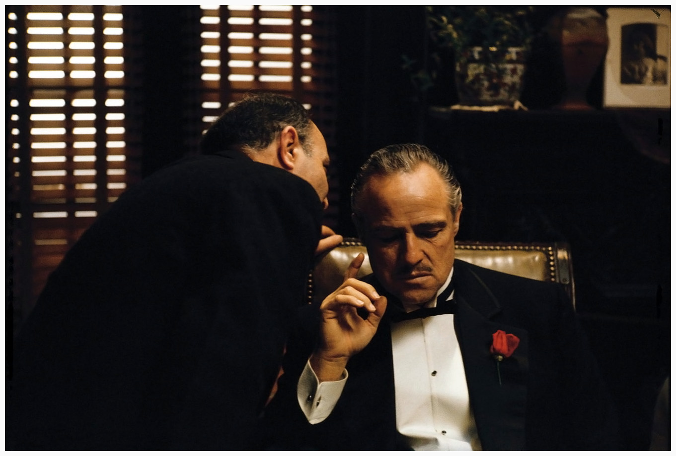 an analysis of the use of lighting in the opening scene of the film the godfather Arriving the same year as hitchcock's final great film, the godfather the analysis of directorial themes begins right at the opening credits the godfather.