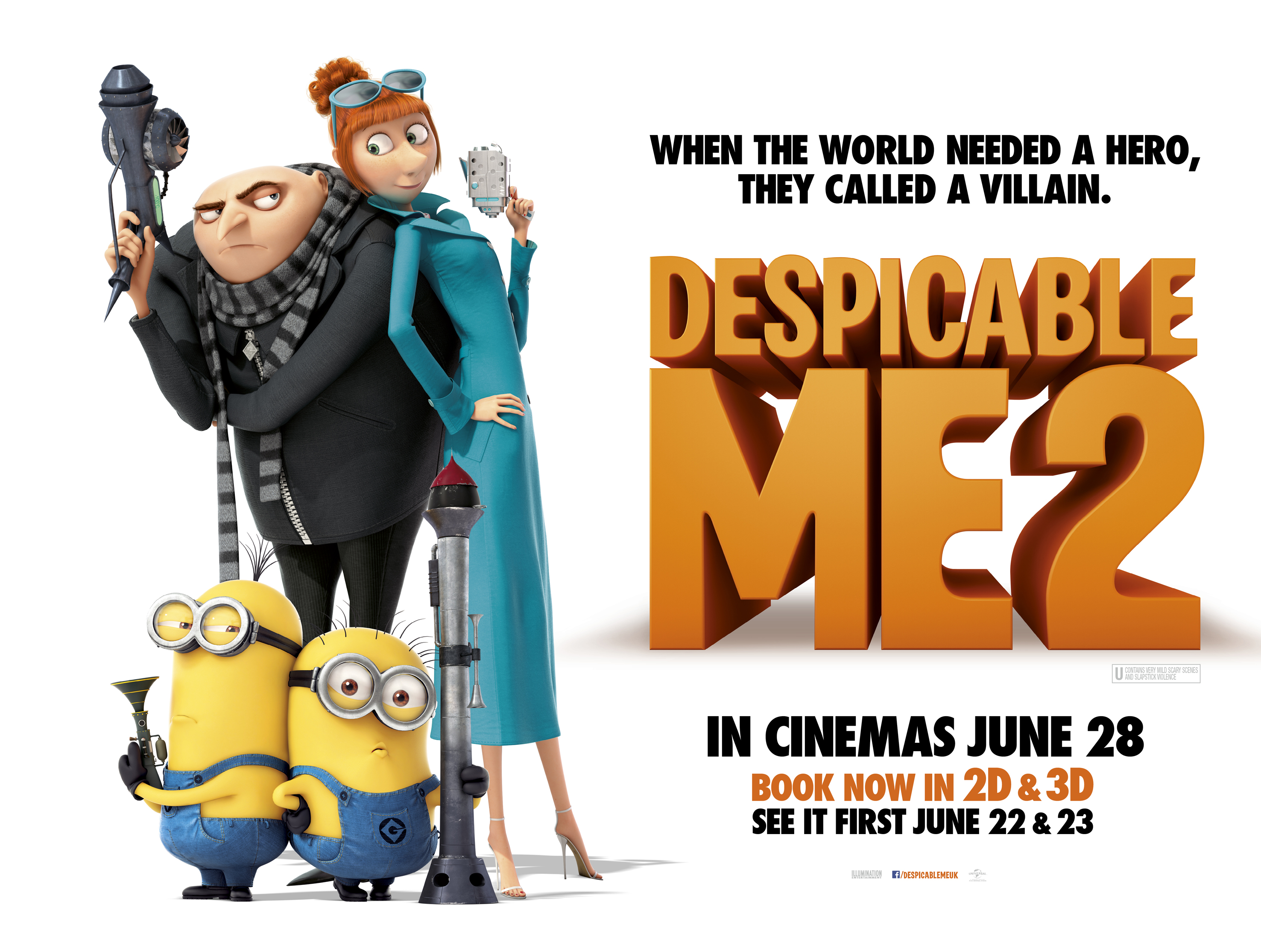 Here you can watch despicable me 2 2013 online streaming full.